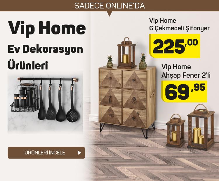 Vip Home Ev dekorasyon ürünleri A101'den alınır!
