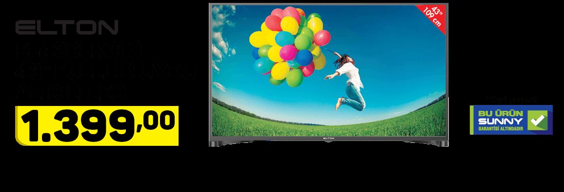 """Elton EL43DLK010 43"""" Uydu Alıcılı Led TV"""