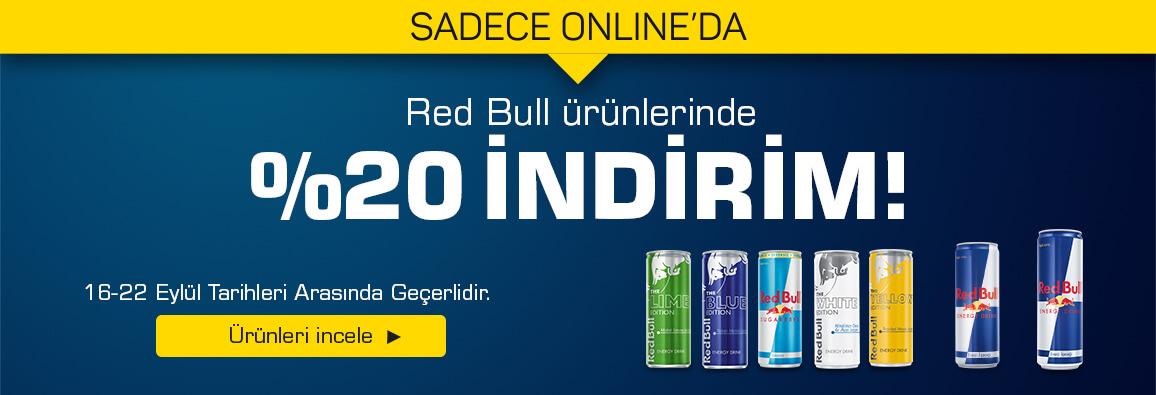 Red Bull Ürünlerinde %20 İndirim