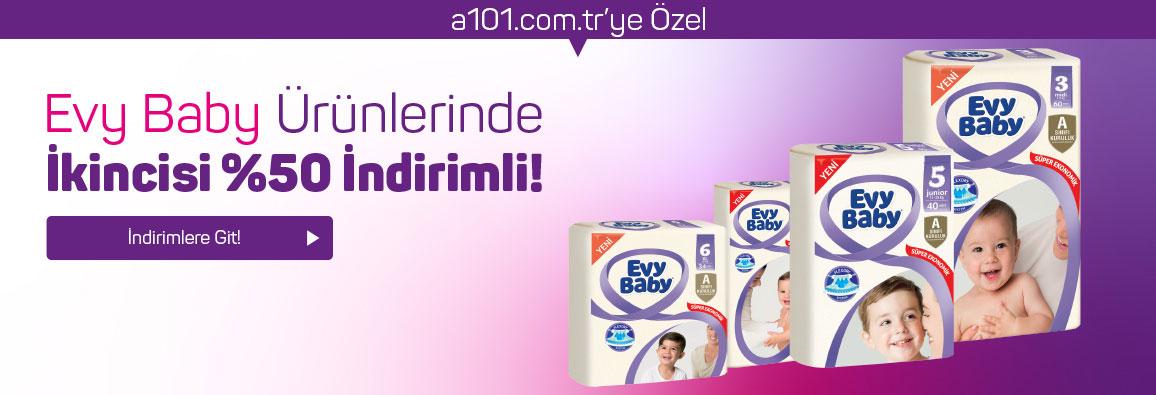 Evy Baby ürünlerinde ikinci alacağınız ürün %50 indirimli!