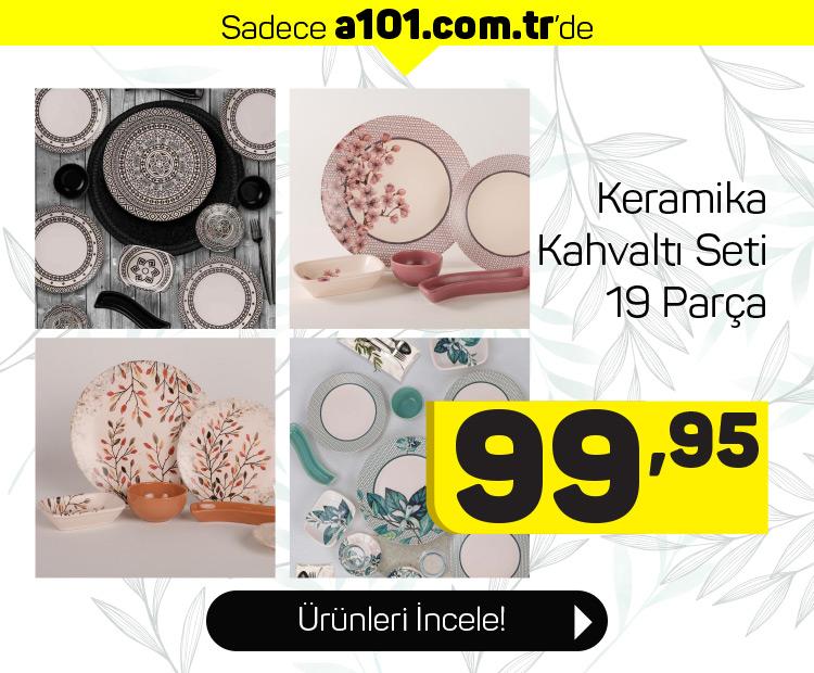 Keramika 19 Parça Kahvaltı Setleri A101'de!