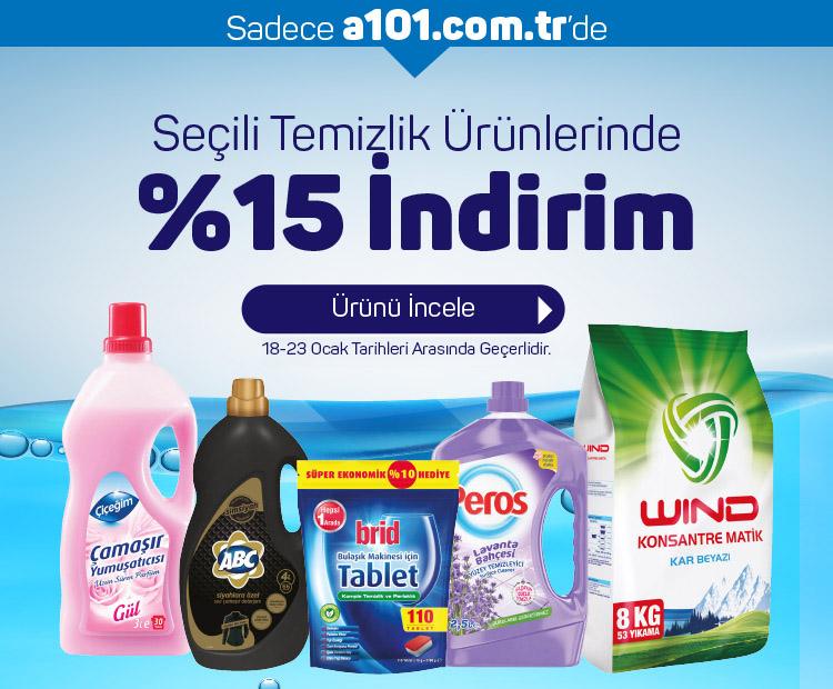 Temizlik Ürünlerinde %15 İndirim