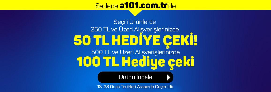 250 TL ve Üzeri Siparişlerde 50 TL, 500 TL ve Üzeri Siparişlerde 100 TL Hediye Çeki!