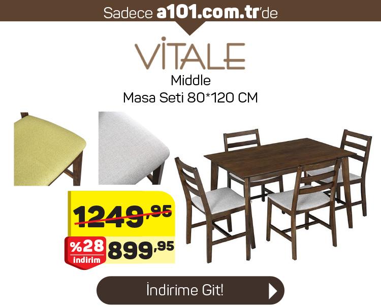 Vitale Middle Masa Sandalye Takımı