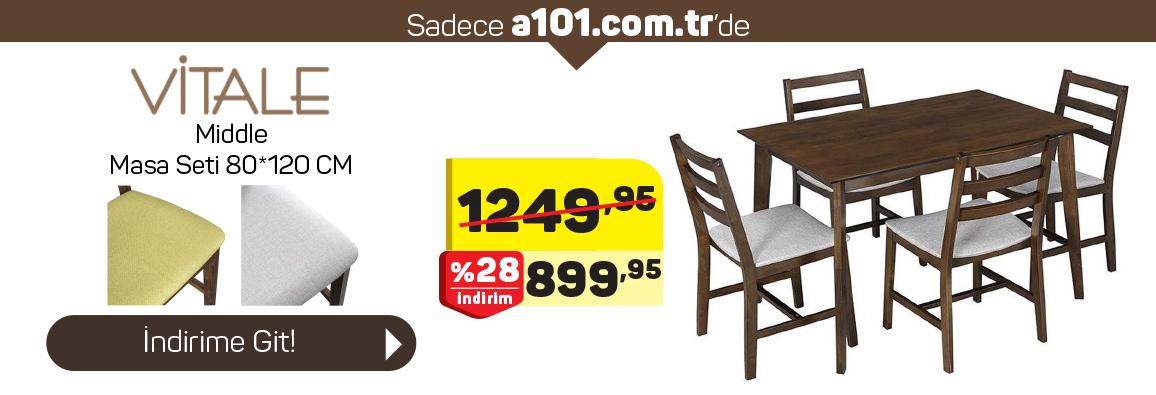 Vitale Middle Masa ve Sandalye Takımı