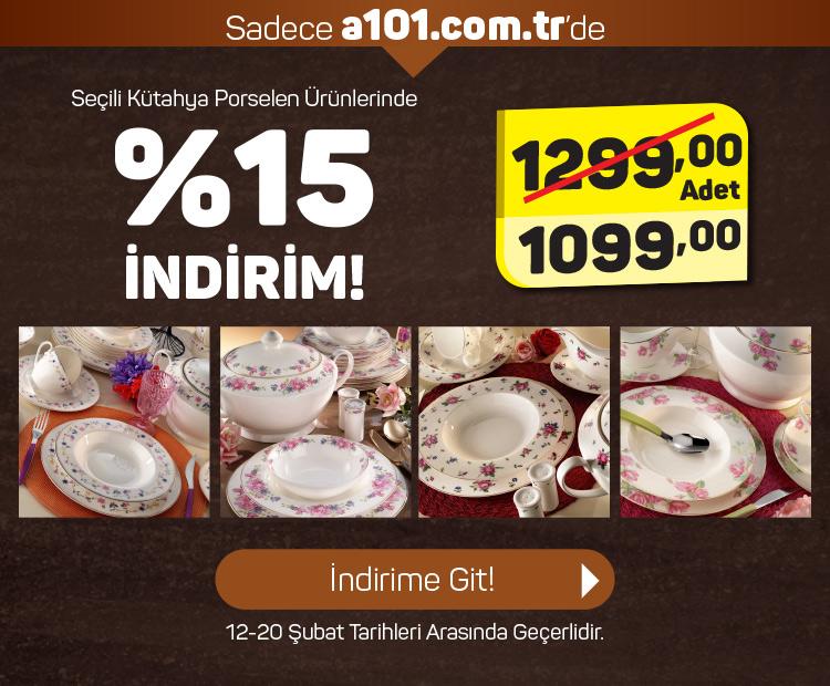 Seçili Kütahya Porselen Ürünlerinde %15 İndirim