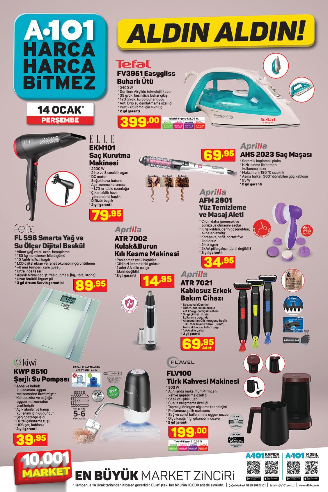 A101 14 Ocak Aktüel Ürünler