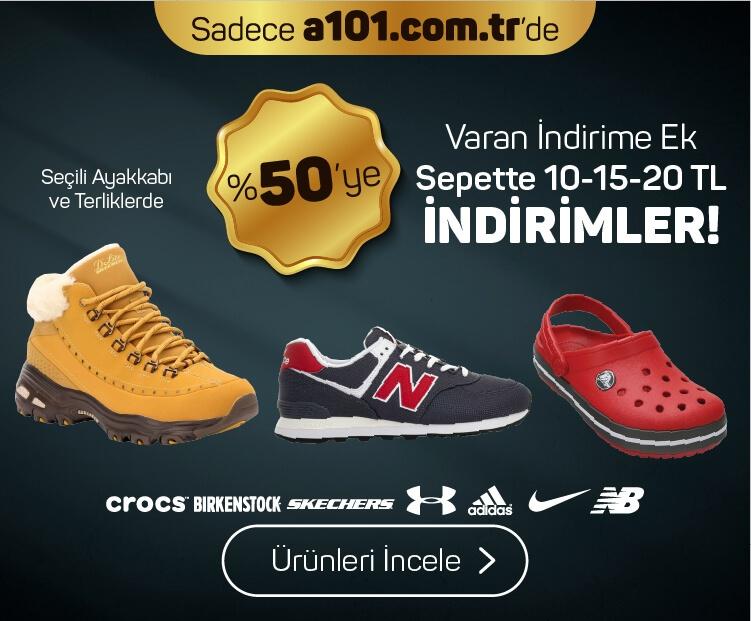 Çeşitli Ayakkabı ve Terliklerde %50'ye Varan İndirim