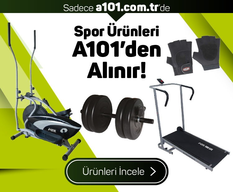 Spor Ürünleri A101'den Alınır!