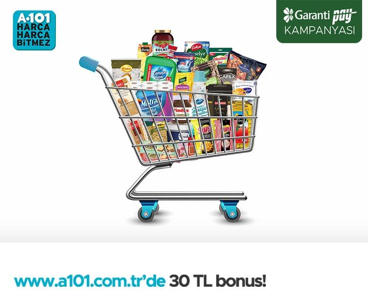 GarantiPay ile 300 TL ve Üzeri Siparişlerde 30 TL Bonus