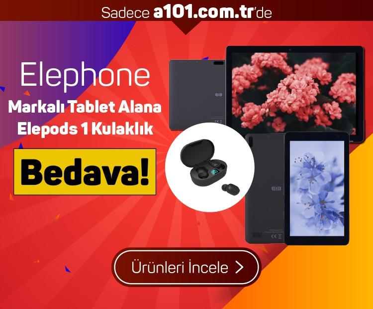 Elephone Markalı Tablet Alana Elepods 1 Kulaklık Bedava!