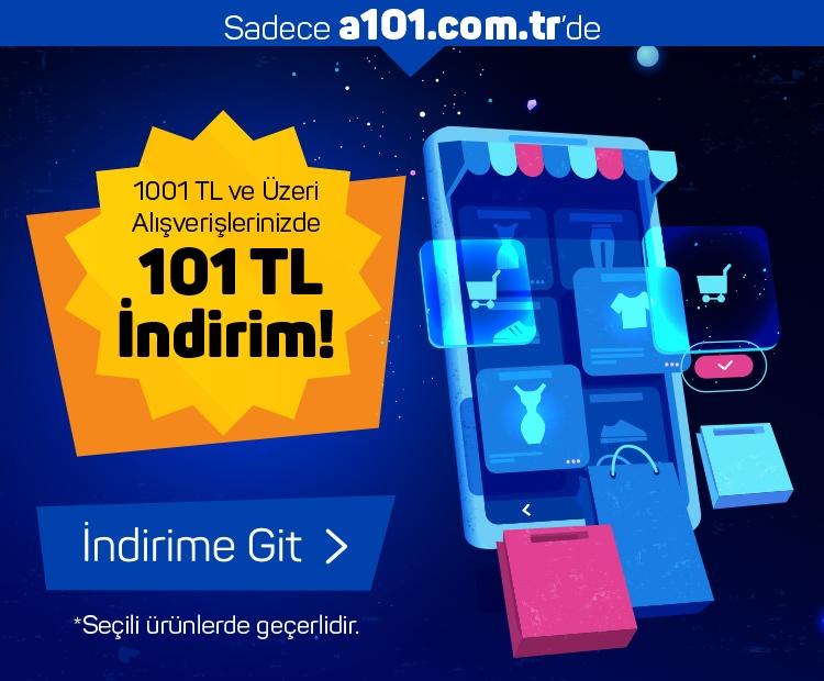 1001 TL ve Üzeri Alışverişlerinizde 101 TL İndirim