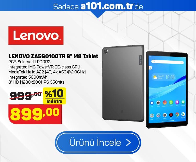 """Lenovo ZA5G0100TR 8"""" M8 Tablet"""