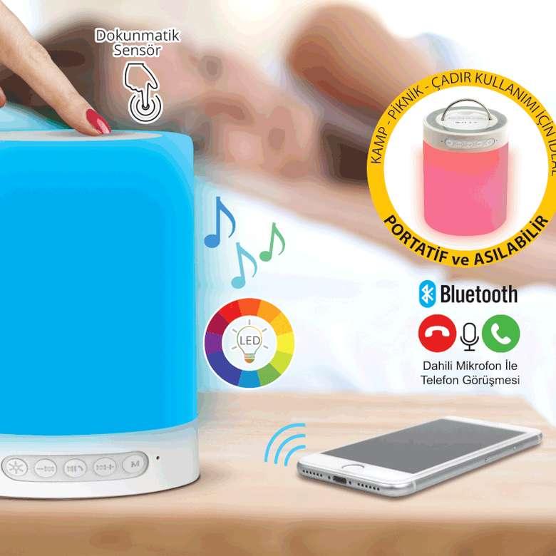 Lambalı Bluetooth Hoparlör