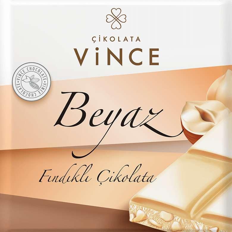 Vince Çikolata Fındıklı Beyaz 75 G