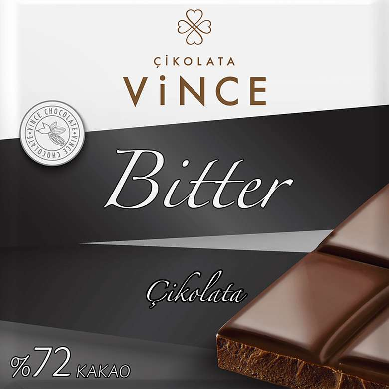 Vince Çikolata Bitter %72 Kakaolu 75 G