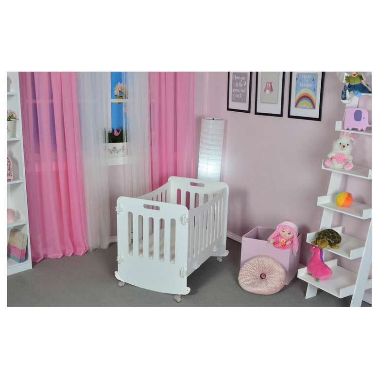Bebek Karyolası Yatak Hediyeli 50x90x67 Cm