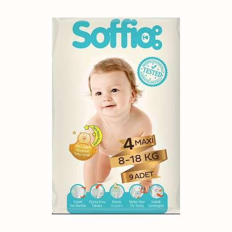 Soffio 4 Numara Maxi 9'lu Bebek Bezi