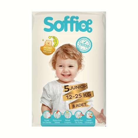 Soffio 5 Numara Junior 8'li Çocuk Bezi