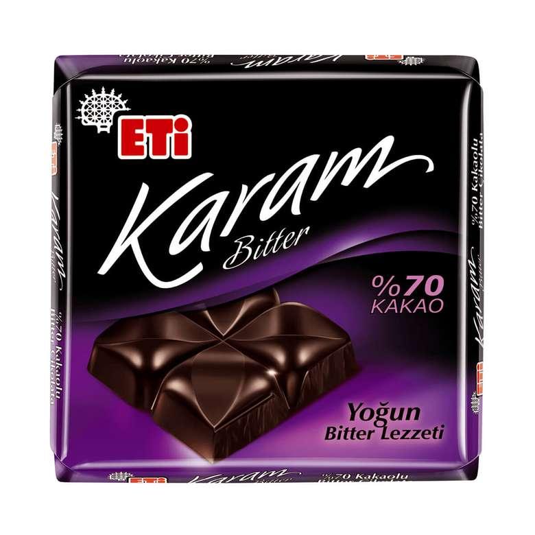 Eti Karam   %70 Bitter Çikolata 70 G