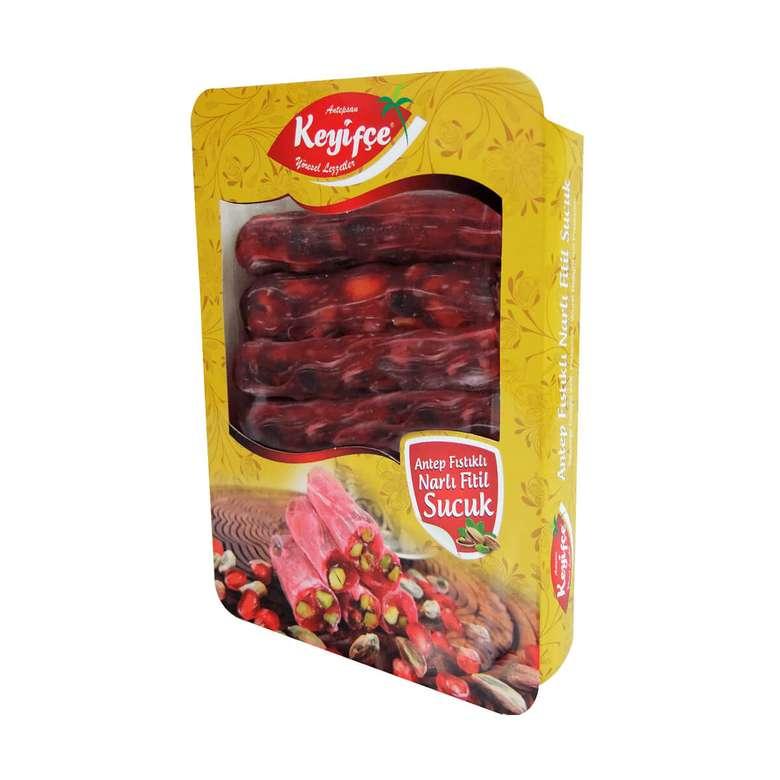 Keyifçe Nar/Sade Antep Fıstıklı Sucuk Lokum 300 G