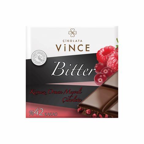 Vince Çikolata Bitter Kırmızı Meyveli 75 G