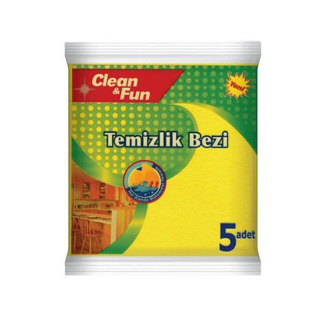 Clean&Fun Temizlik Bezi 5'li