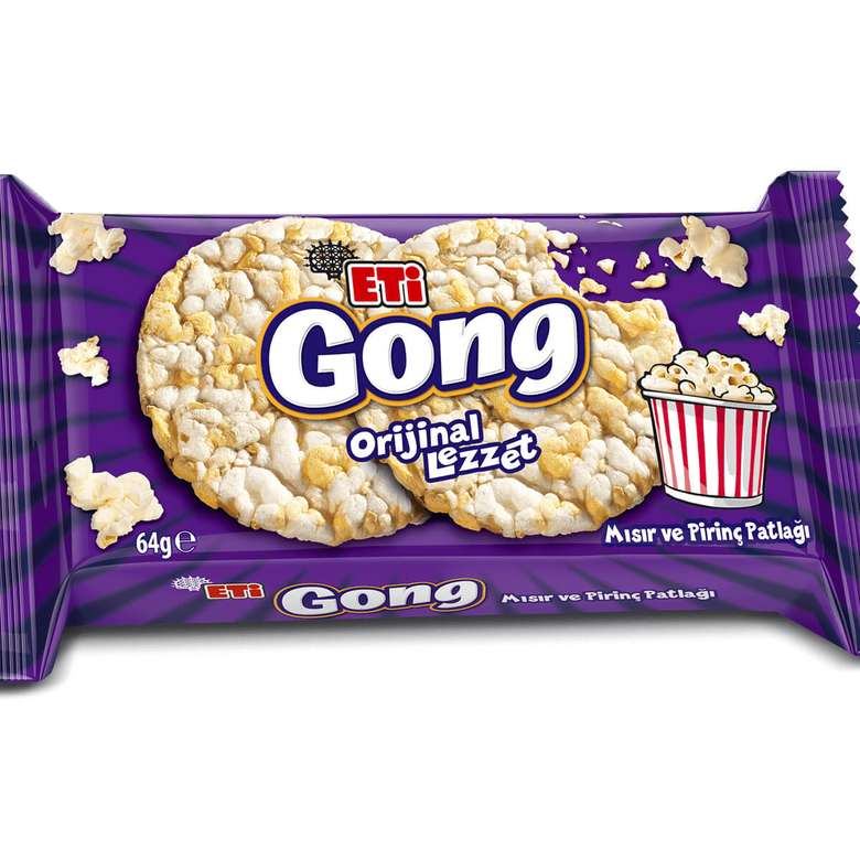 Eti Gong Mısır&Pirinç Patlağı 64 G