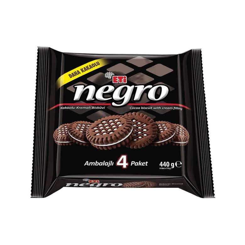 Eti Negro Bisküvi Kremalı Kakaolu 4x110 G