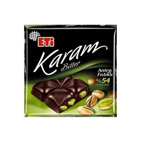 Eti Karam Fıstıklı Bitter Çikolata 70 G