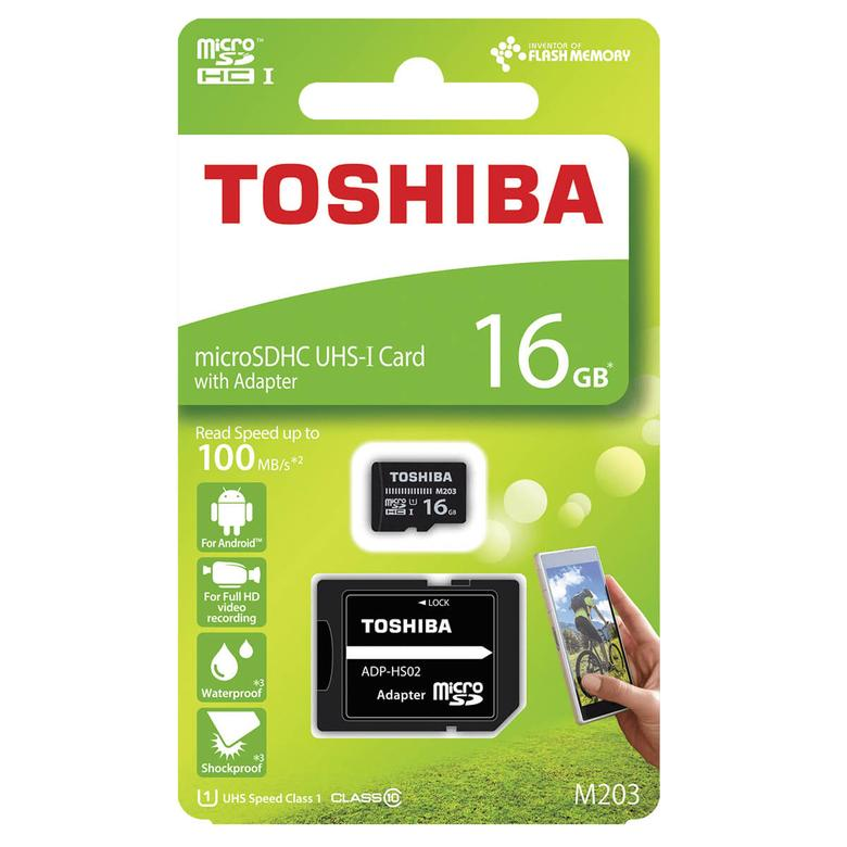 Toshiba 16GB Micro SDHC UHS-1 C10 Hafıza Kartı