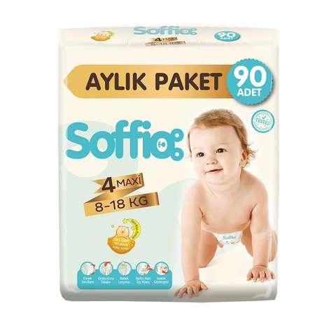 Soffio 4 Numara  Maxi 90'lı Bebek Bezi