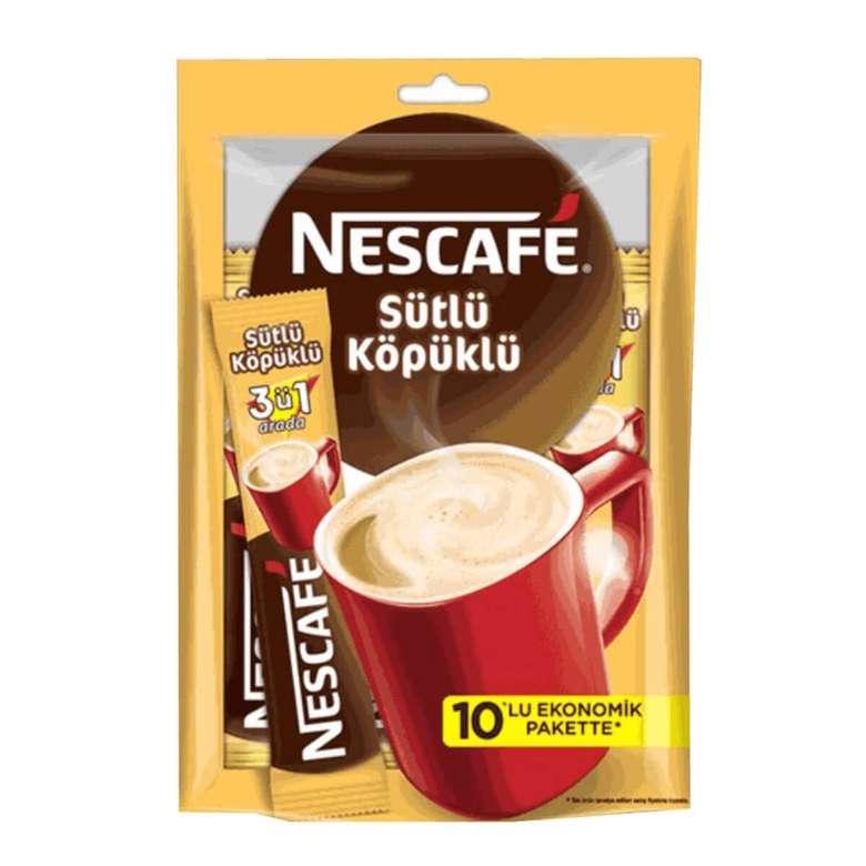 Nescafe Kahve 3'ü 1 Arada Sütlü Köpüklü 17,4 * 10 G