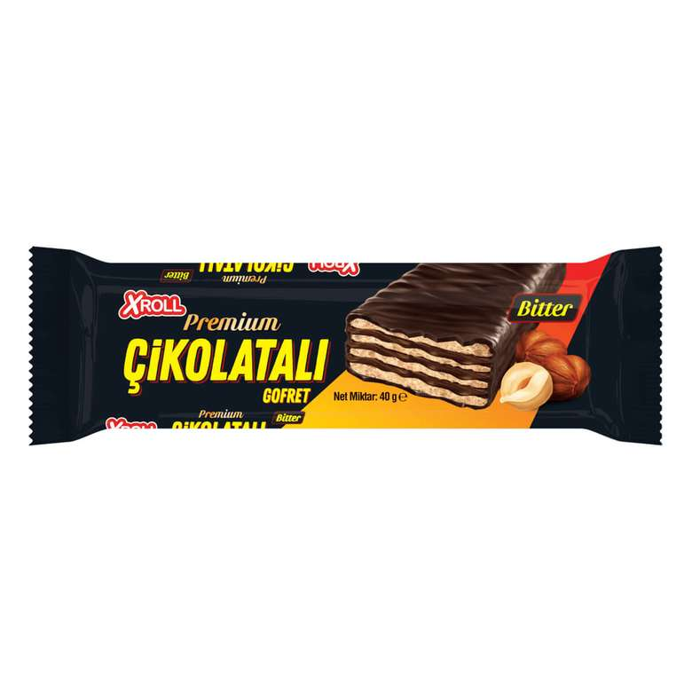 Xroll Bitter Çikolatalı Gofret 40g