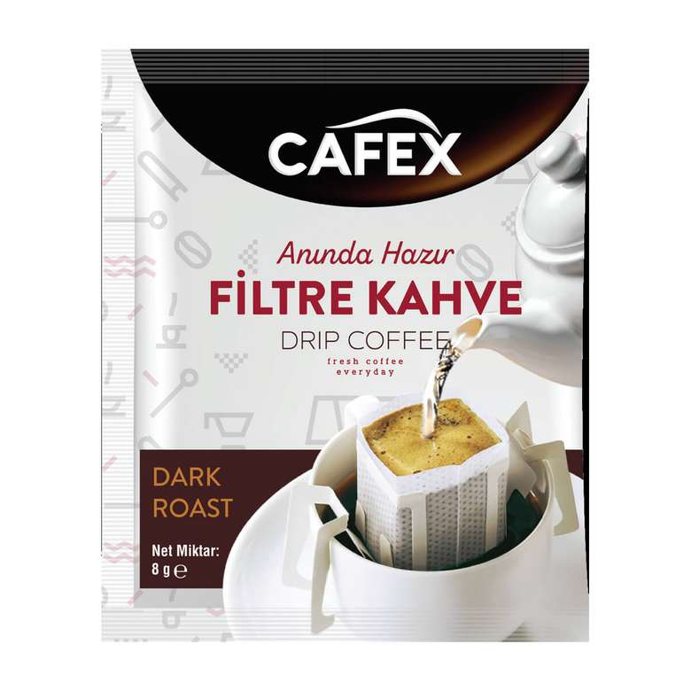 Cafex Tek İçimlik Filtre Kahve 8 G
