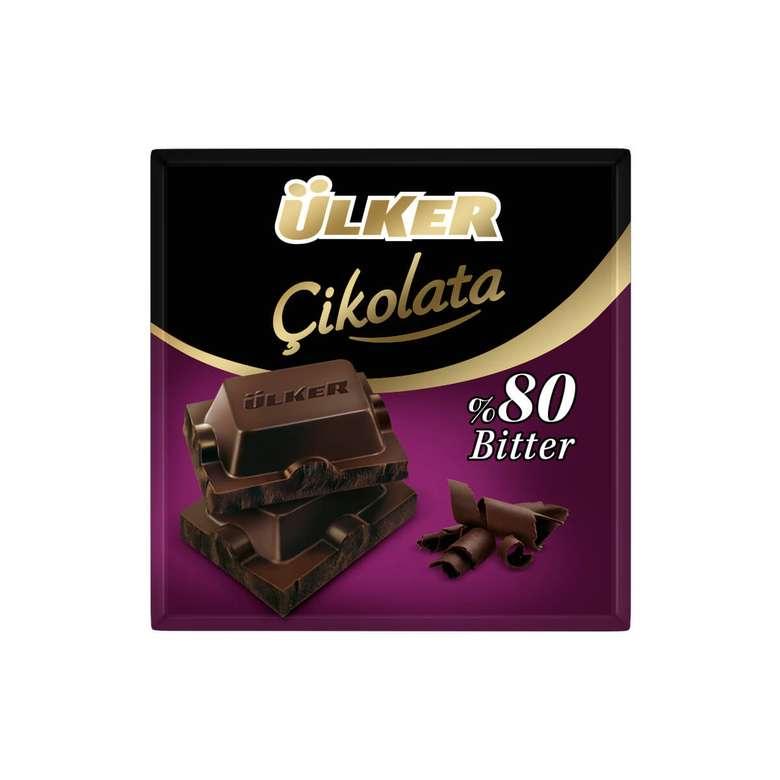Ülker Çikolata Bitter %80 Kakaolu 70 G