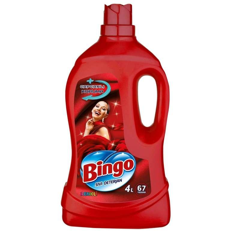Bingo Sıvı Çamaşır Deterjanı Renkli 4 L