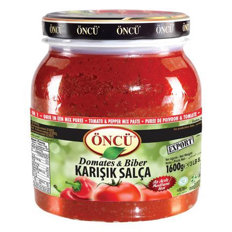 Öncü Salça Biber&domates Karışık 1600 G