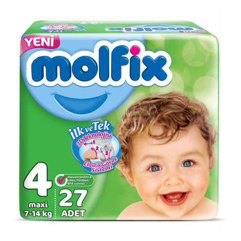 Molfix 4 Numara  Maxi 27'li Bebek Bezi