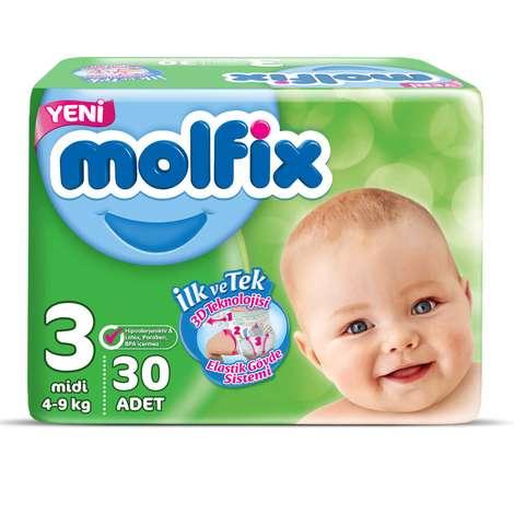Molfix 3 Numara Midi 30'lu Bebek Bezi