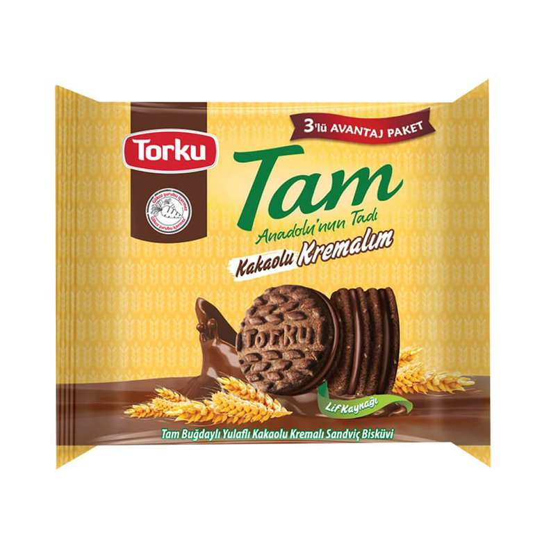 Torku Kakao Kremalı Bisküvi 3x83 G