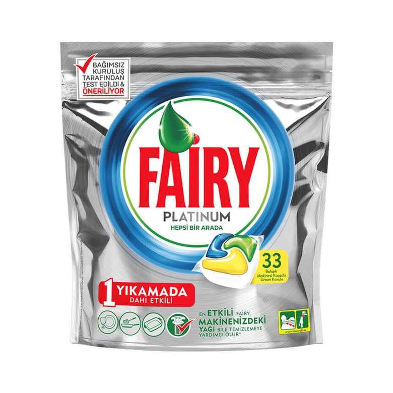 Fairy Platinum Bulaşık Makinesi Kapsülü Hepsi 1 Arada 33'lü