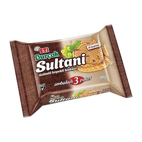 Eti Sultani Bisküvi Üzümlü Kepekli 3x123 G