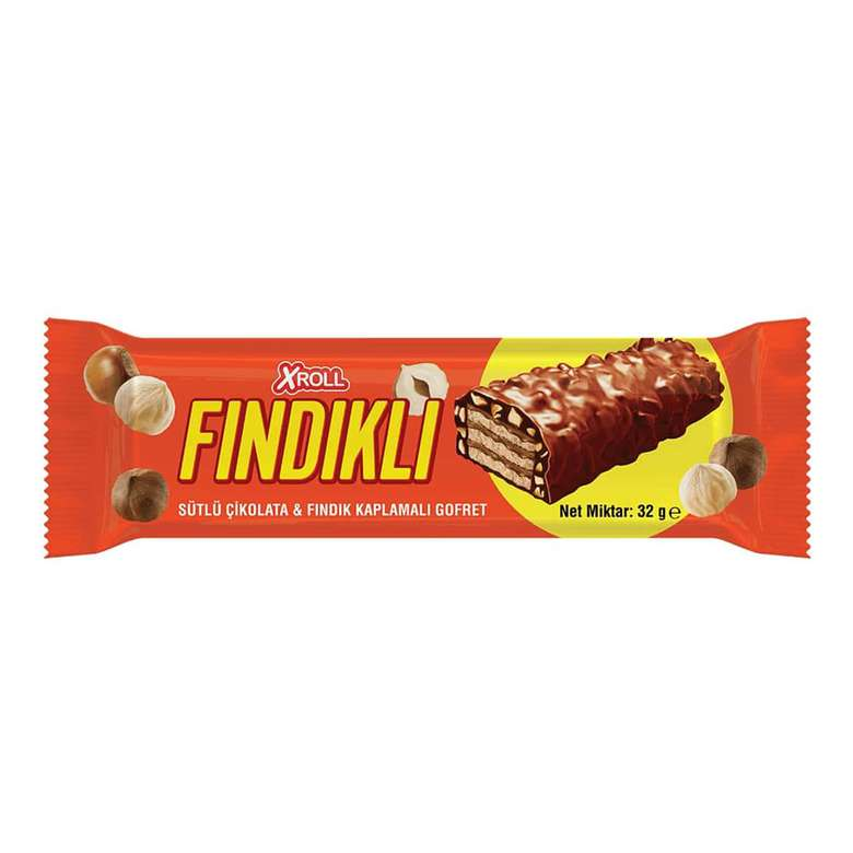 Xroll Çikolatalı&Fındıklı Gofret 32 G