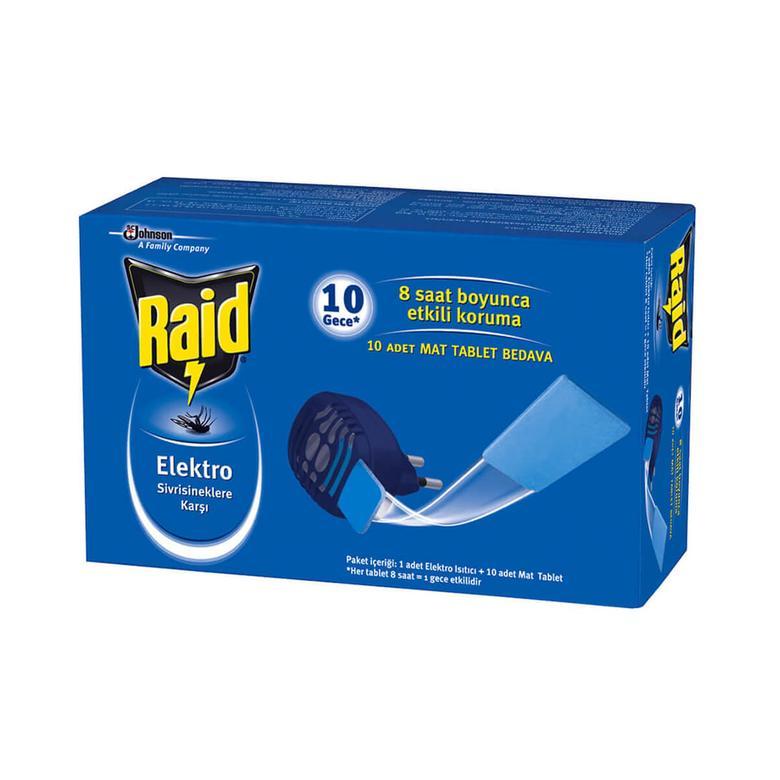 Raid Elektro Isıtıcı + 10 Mat Tablet