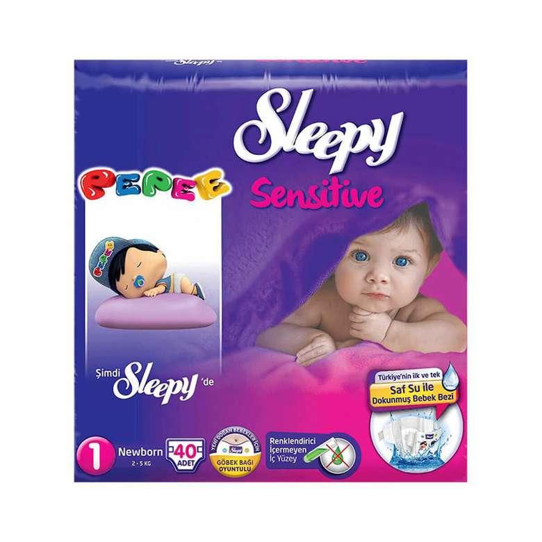Sleepy 1 Numara Yenidoğan 40'lı Bebek Bezi