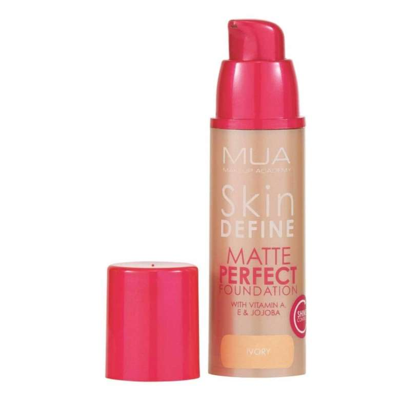 Make Up Academy Skin Define Matlaştırıcı Fondöten - Ivory
