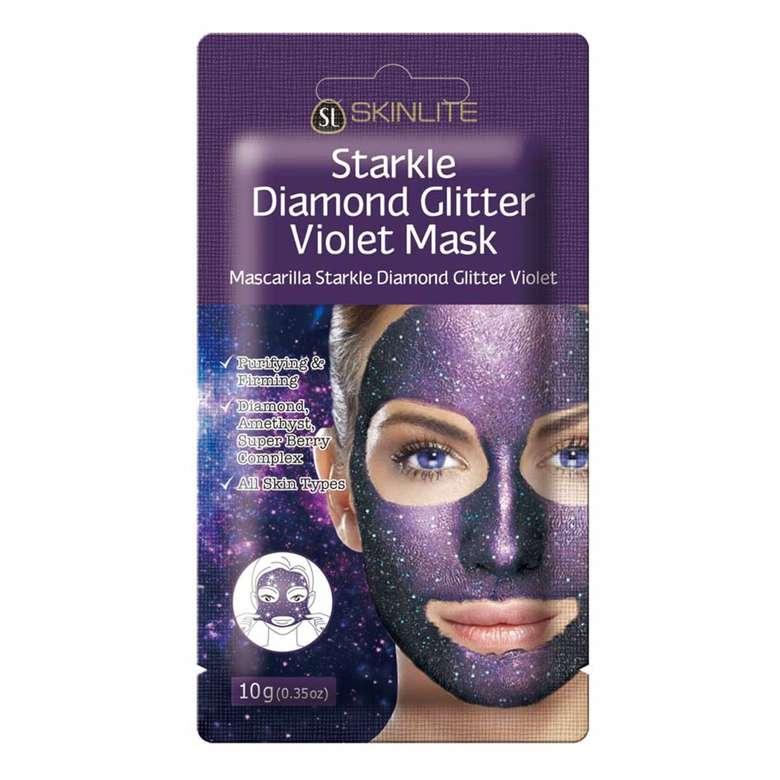 Skinlite Pırıltılı Mor Renkli Yüz Maskesi