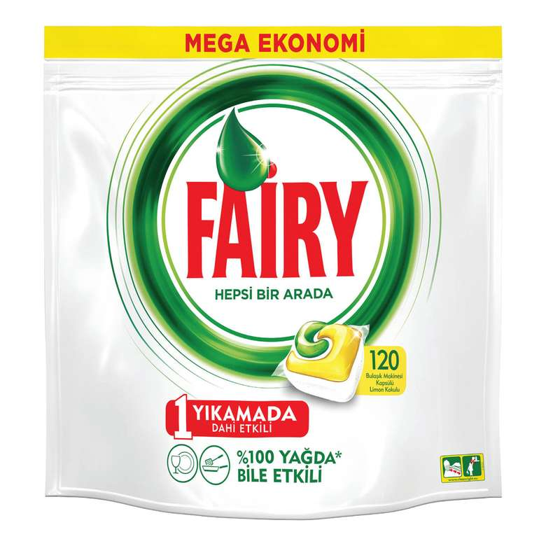 Fairy Bulaşık Makinası Kapsülü  120'li