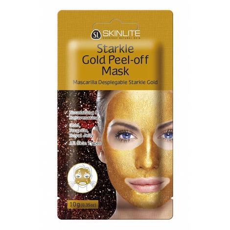 Skinlite Pırıltılı Altın Yüz Maskesi